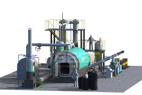 Small Scale Tyre Pyrolysis Equipment